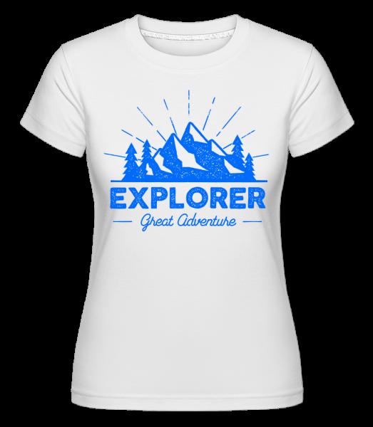 Explorer Great Adventures - Shirtinator Frauen T-Shirt - Weiß - Vorn