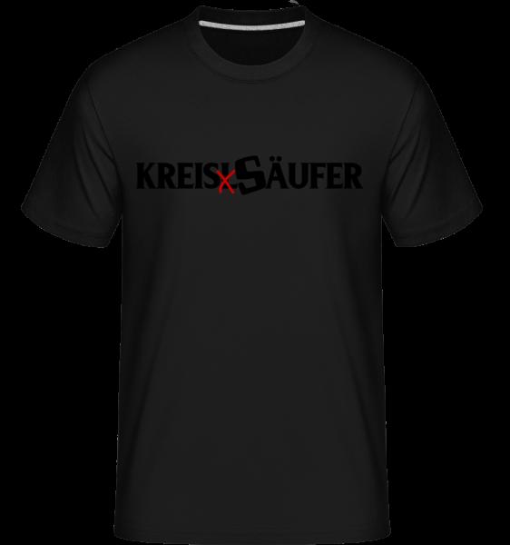KreisSäufer - Shirtinator Männer T-Shirt - Schwarz - Vorn
