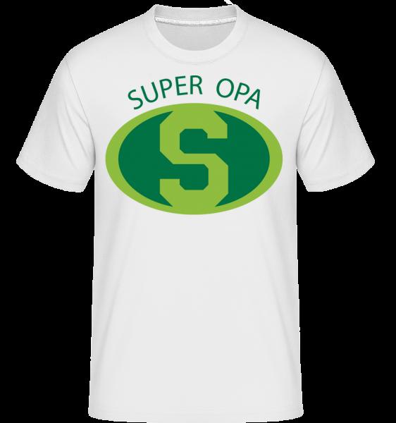Super Opa - Shirtinator Männer T-Shirt - Weiß - Vorn