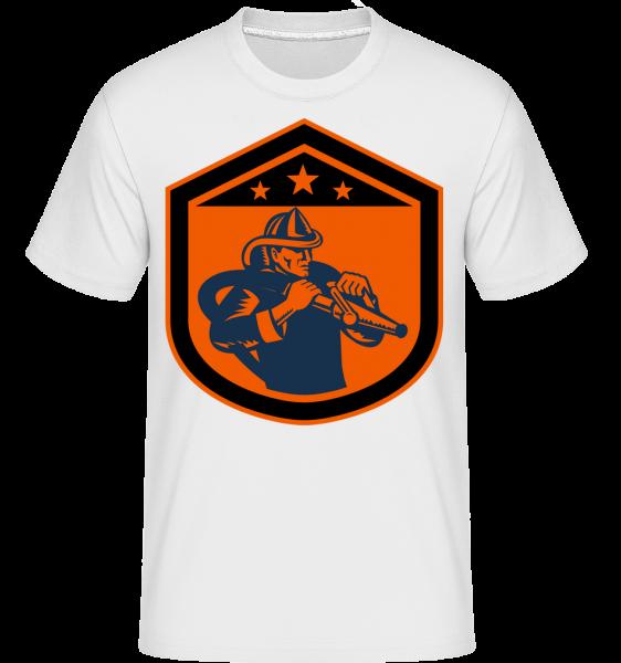 Fire Department Emblem - Shirtinator Men's T-Shirt - White - Vorn