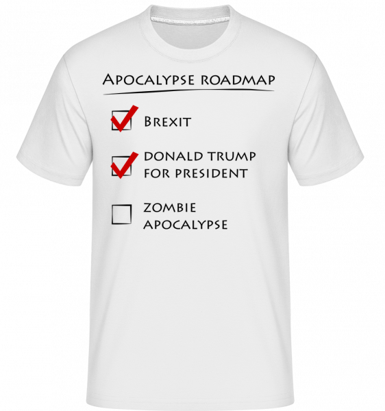 Apocalypse Roadmap -  Shirtinator Men's T-Shirt - White - Vorn