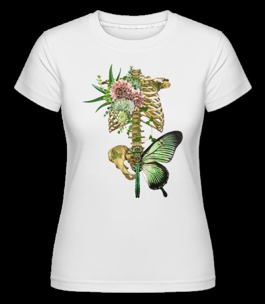 Kunstvolle Wirbelsäule - Shirtinator Frauen T-Shirt - Weiß - Vorn