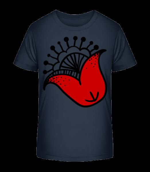 Blume Comic - Kinder Premium Bio T-Shirt - Marine - Vorn