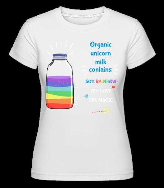 Organic Unicorn Milk -  Shirtinator Women's T-Shirt - White - Vorn