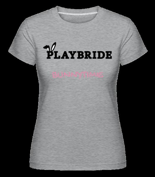 Playbride Bunnytime - Shirtinator Women's T-Shirt - Heather grey - Front