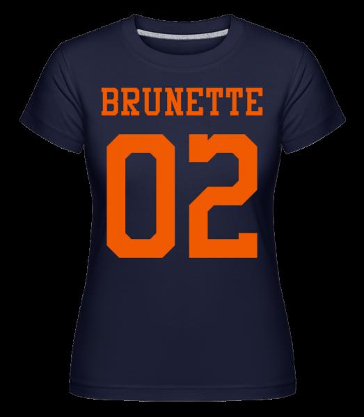 Brunette 02 - Shirtinator Frauen T-Shirt - Marine - Vorn