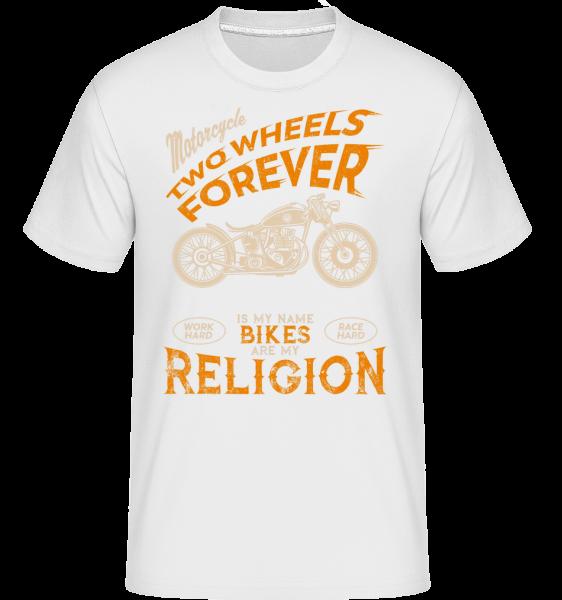 Bikes Are My Religion - Shirtinator Männer T-Shirt - Weiß - Vorn