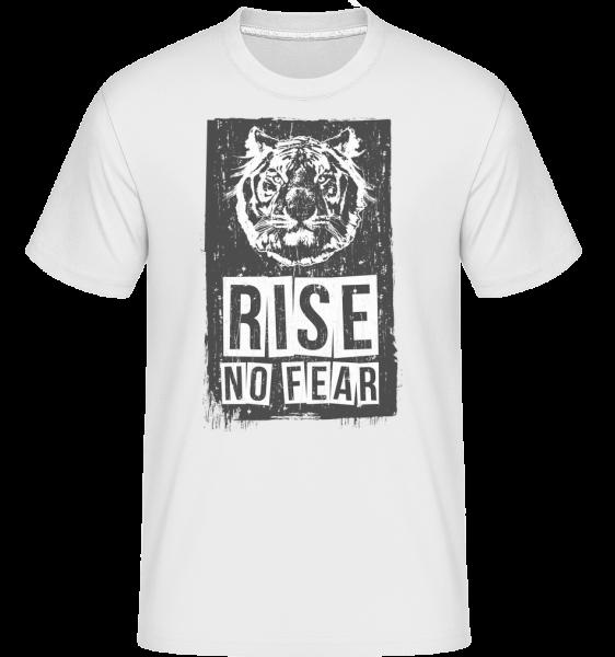 Rise No Fear Tiger -  Shirtinator Men's T-Shirt - White - Vorn