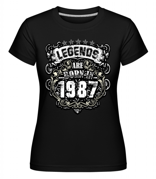 Legends Are Born In 1987 - Shirtinator Women's T-Shirt - Black - Front
