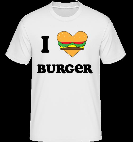 I Love Burger - Shirtinator Männer T-Shirt - Weiß - Vorn