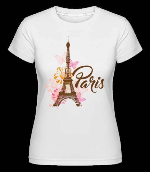 Paris France Brown - Shirtinator Frauen T-Shirt - Weiß - Vorn