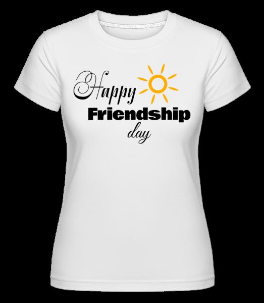 Happy Friendship Day -  Shirtinator Women's T-Shirt - White - Vorn