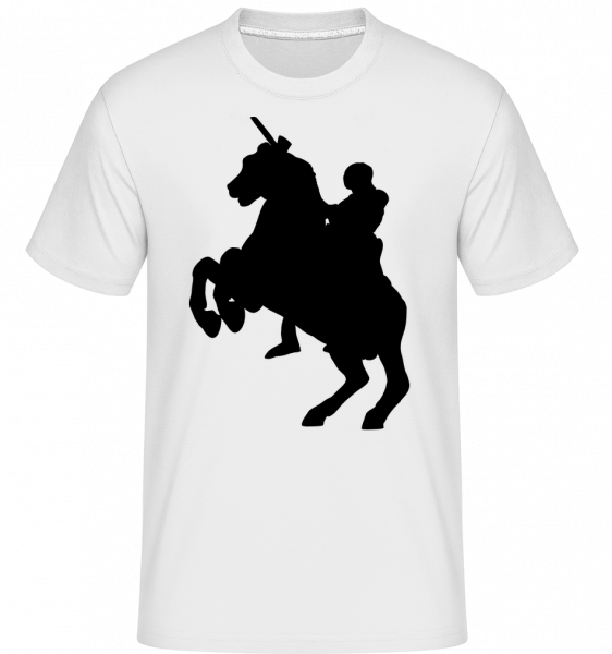 Knight Silhouette Black - Shirtinator Men's T-Shirt - White - Vorn