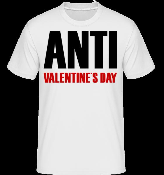 Anti Valentine's Day - Shirtinator Männer T-Shirt - Weiß - Vorn