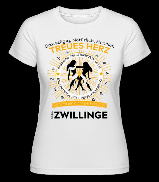 Sternzeichen Zwillinge - Shirtinator Frauen T-Shirt - Weiß - Vorn