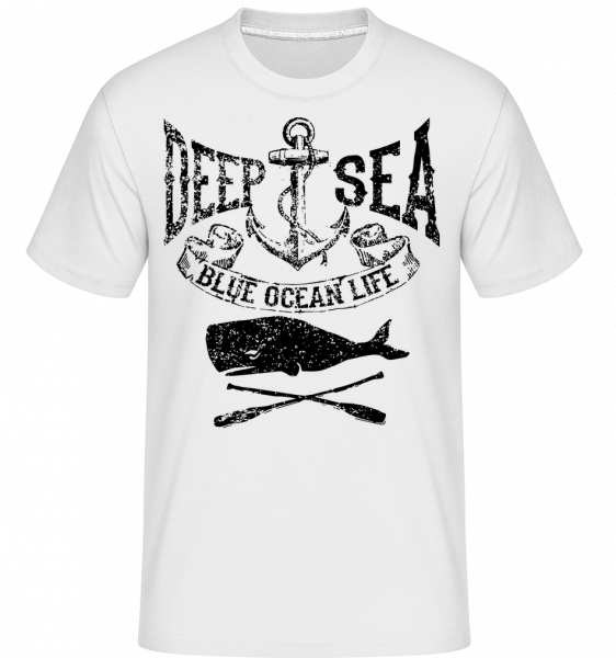 Deep Sea Ocean Icon - Shirtinator Männer T-Shirt - Weiß - Vorn