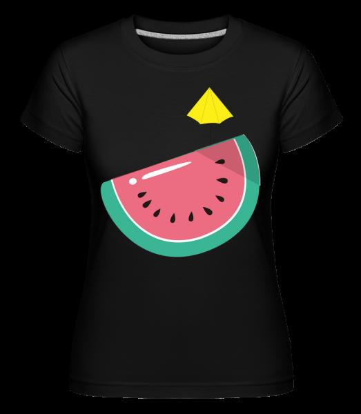 Sonnen Melone - Shirtinator Frauen T-Shirt - Schwarz - Vorn