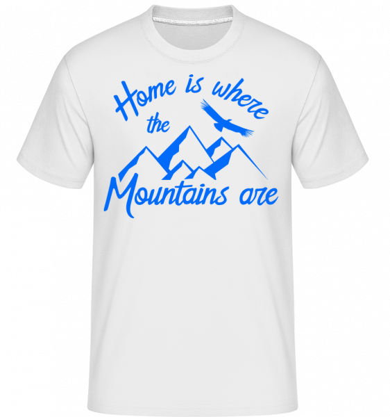 Home Is Where The Mountains Are -  Shirtinator Men's T-Shirt - White - Vorn