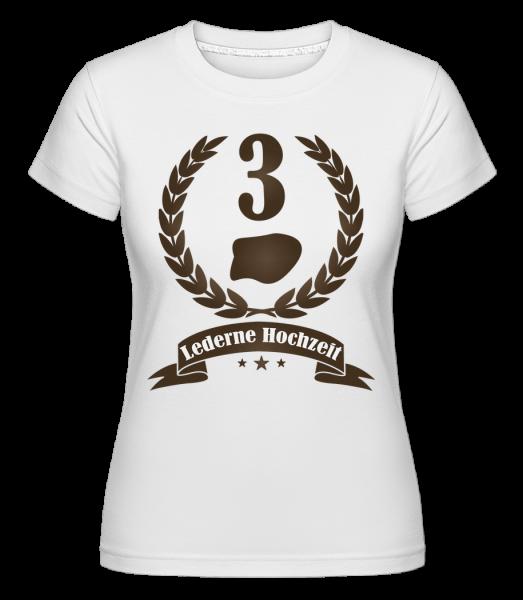 Lederne Hochzeit - Shirtinator Frauen T-Shirt - Weiß - Vorn