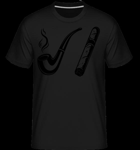 Pipe And Cigars -  Shirtinator Men's T-Shirt - Black - Front