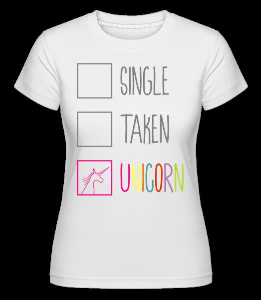 Single Taken Unicorn -  Shirtinator Women's T-Shirt - White - Vorn