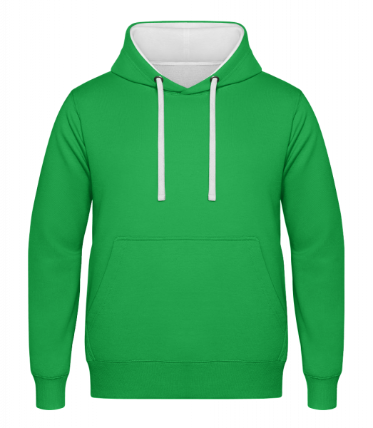 Unisex Two-Toned Hoodie - Kelly green - Front