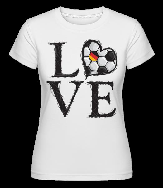 Fußball Liebe Deutschland - Shirtinator Frauen T-Shirt - Weiß - Vorn