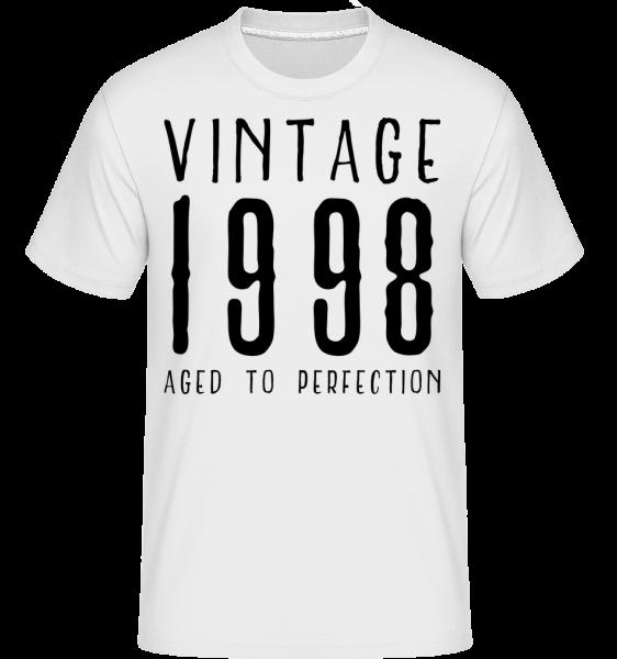 Vintage 1998 Aged To Perfection - Shirtinator Männer T-Shirt - Weiß - Vorn