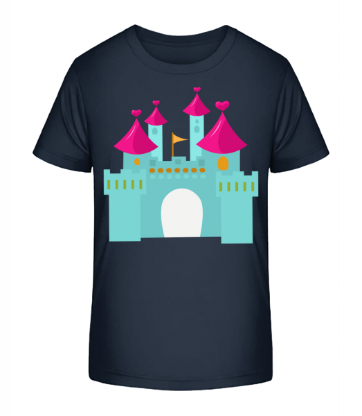 Princess Castle - Kinder Premium Bio T-Shirt - Marine - Vorn