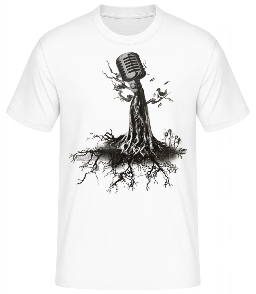 Microphone Tree - Men's Basic T-Shirt - White - Front