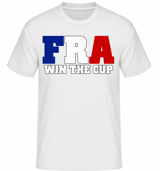 FRA Gewinnt Den Pokal - Shirtinator Männer T-Shirt - Weiß - Vorn