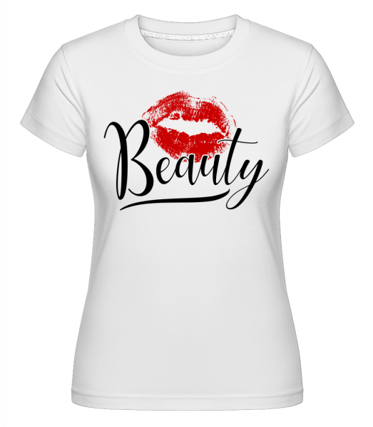 Beauty Kissing Mouth - Shirtinator Frauen T-Shirt - Weiß - Vorn
