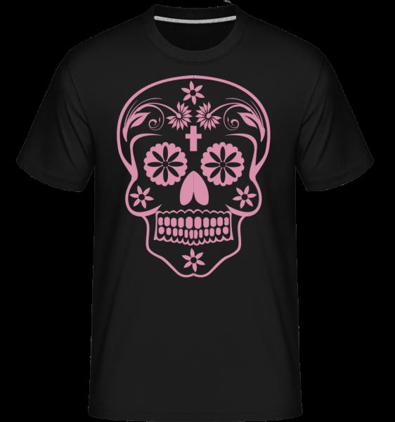 Día de los Muertos Schädel - Shirtinator Männer T-Shirt - Schwarz - Vorn