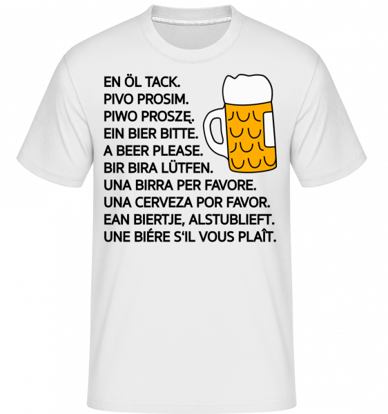 Beer Please - Shirtinator Männer T-Shirt - Weiß - Vorn