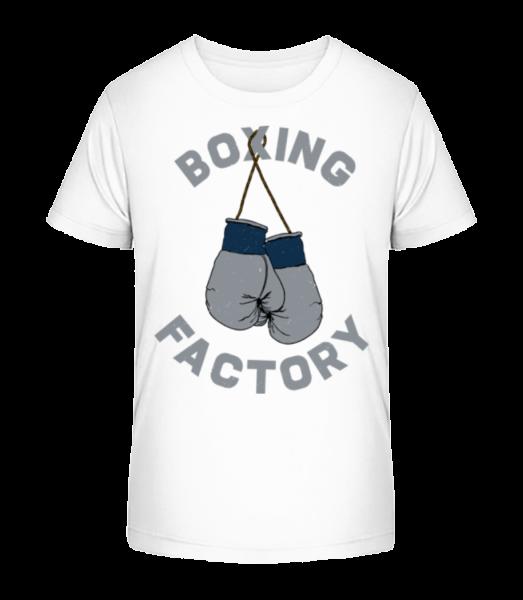 Boxing Factory - Kid's Premium Bio T-Shirt - White - Front