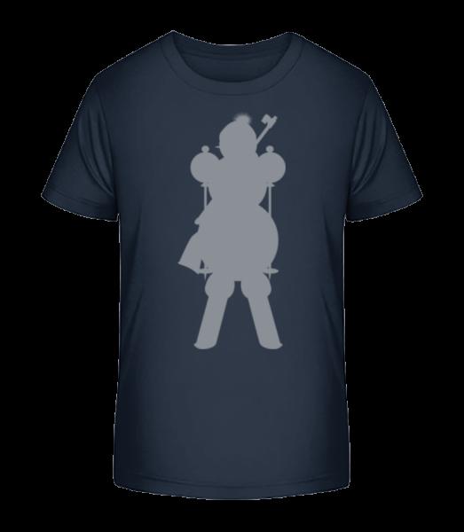 Ski Snowman Grey - Kinder Premium Bio T-Shirt - Marine - Vorn
