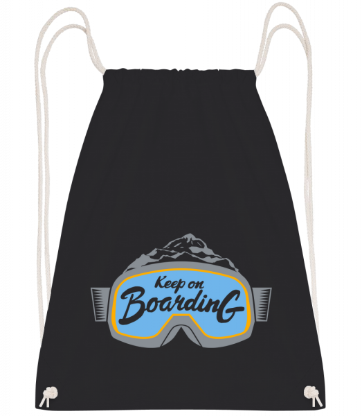 Keep On Boarding - Drawstring Backpack - Black - Vorn