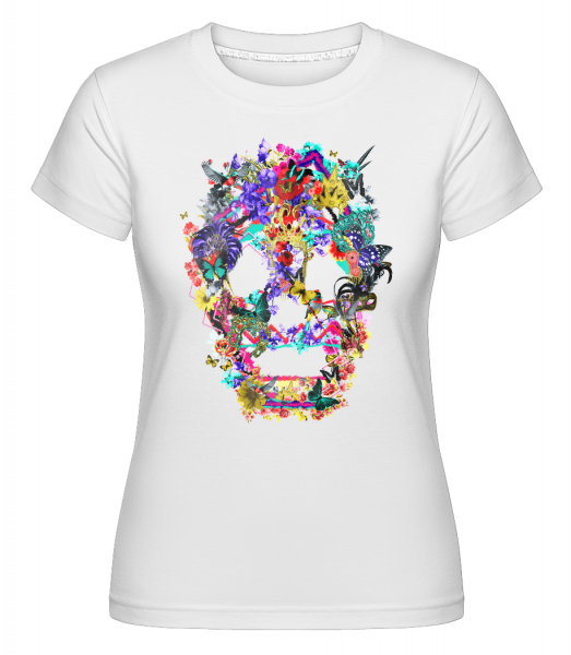 Totenkopf Collage Brasilien - Shirtinator Frauen T-Shirt - Weiß - Vorn