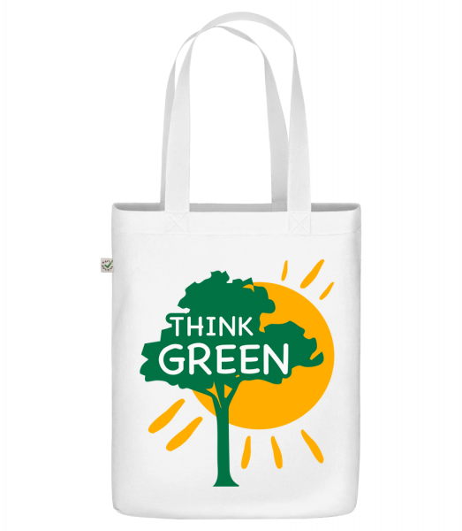 "Think Green - Organic ""Earth Positive"" tote bag - White - Front"