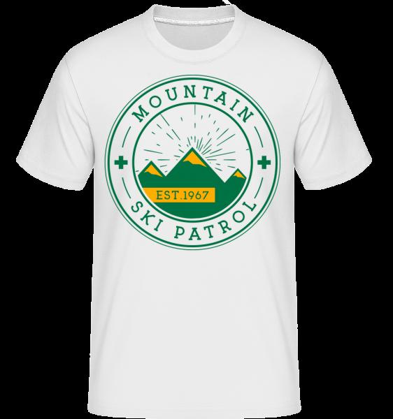 Mountain Ski Patrol Sign - Shirtinator Männer T-Shirt - Weiß - Vorn
