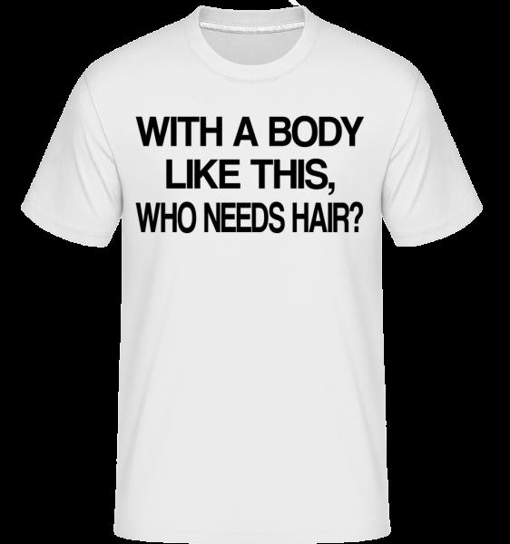 Who Needs Hair? -  Shirtinator Men's T-Shirt - White - Vorn