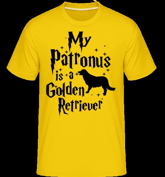 My Patronus Is A Golden Retrieve - Shirtinator Männer T-Shirt - Goldgelb - Vorn