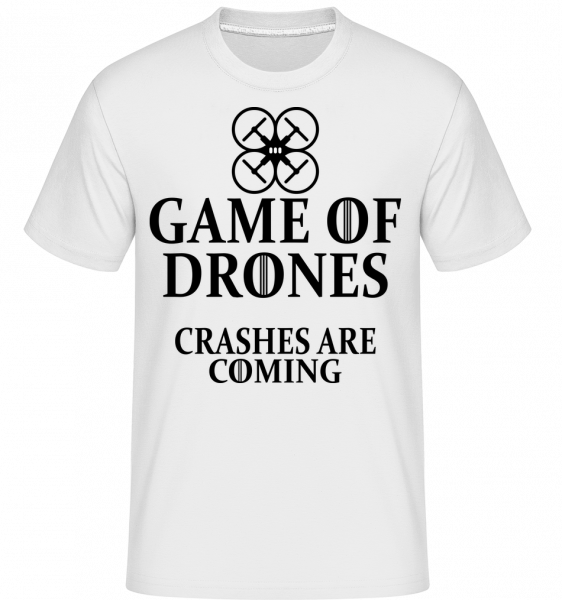 Game Of Drones - Shirtinator Männer T-Shirt - Weiß - Vorn