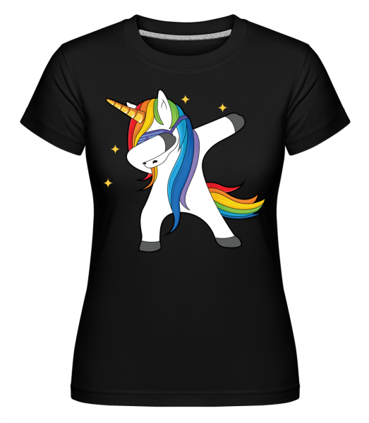 Party Einhorn -  Shirtinator Women's T-Shirt - Black - Vorn