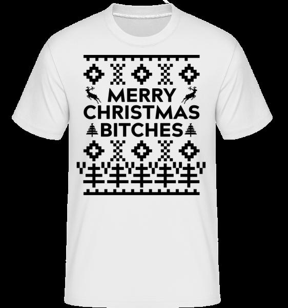 Merry Christmas Bitches - Shirtinator Männer T-Shirt - Weiß - Vorn
