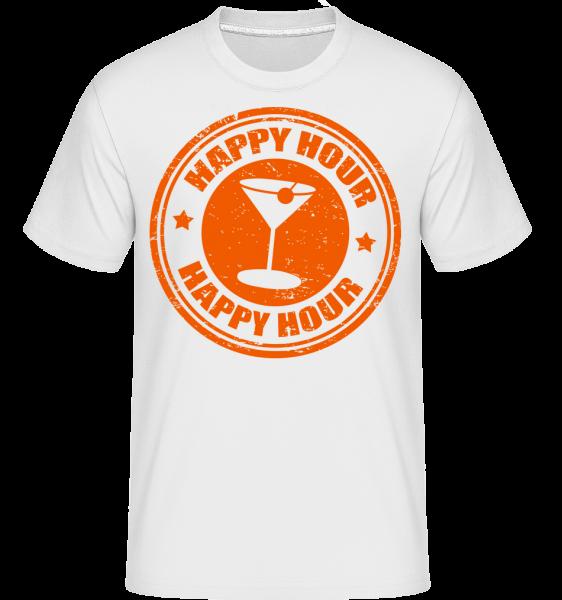 Happy Hour Cocktail - Shirtinator Männer T-Shirt - Weiß - Vorn