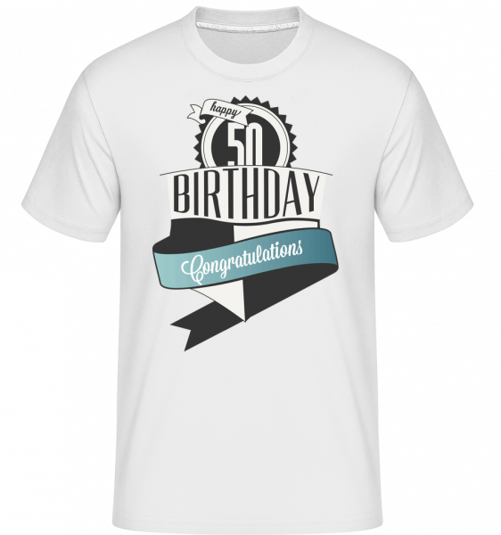 50 Birthday Congrats - Shirtinator Men's T-Shirt - White - Vorn