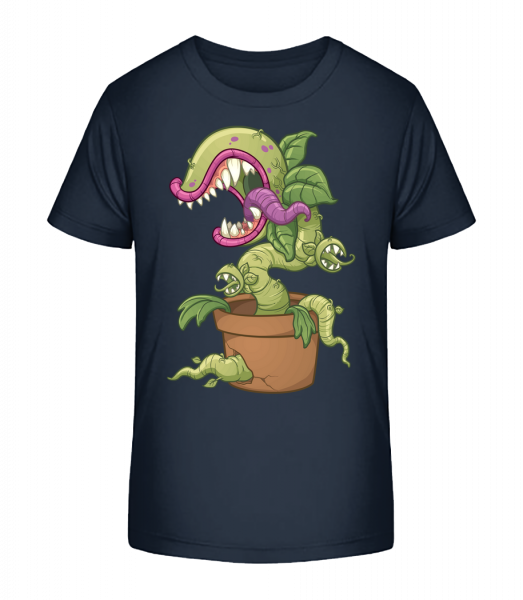 Bad Plant Comic - Kid's Premium Bio T-Shirt - Navy - Front