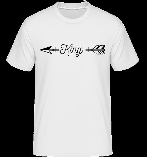 King Pfeil - Shirtinator Männer T-Shirt - Weiß - Vorn