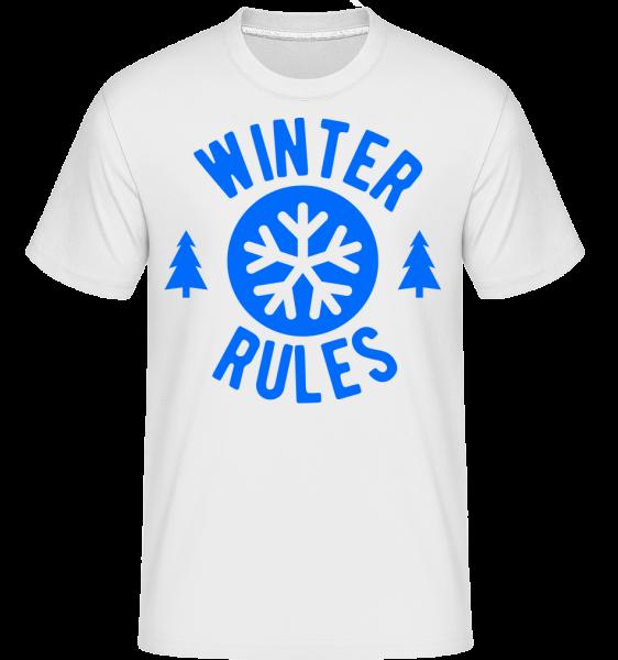 Winter Rules - Shirtinator Männer T-Shirt - Weiß - Vorn